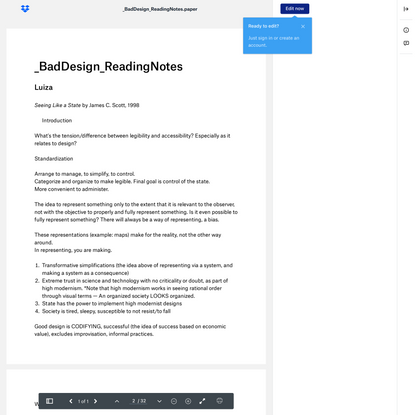 _BadDesign_ReadingNotes.paper