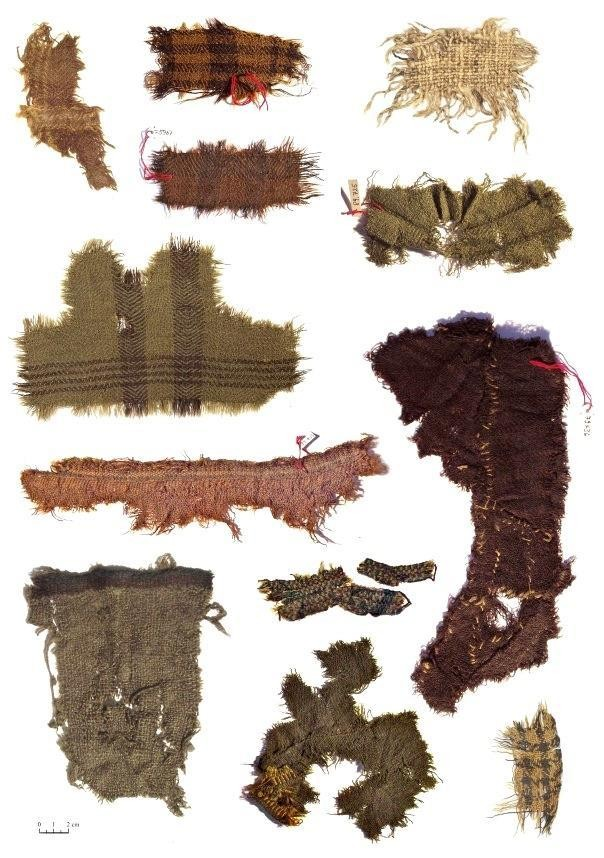 Fragments of Iron Age textiles from the Celtic saltmines at Hallstatt, Austria
