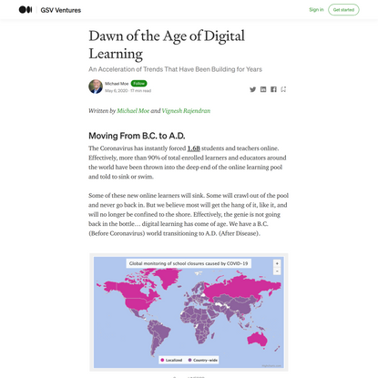 Dawn of the Age of Digital Learning
