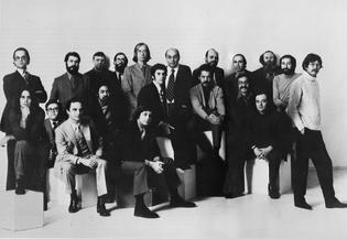 Push Pin Studios class photo of past and present members taken in 1970