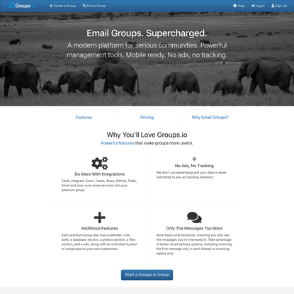 Groups.io: Email Groups, Supercharged