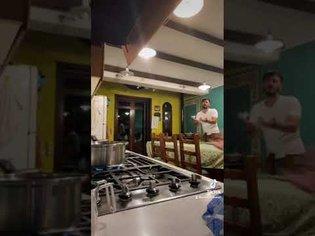 Breaking spaghetti in front of my Italian fiancé