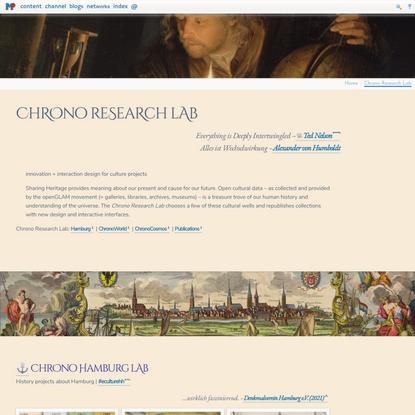Chrono Research Lab @mprove
