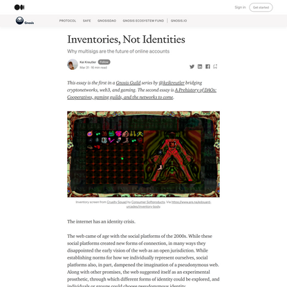 Inventories, Not Identities