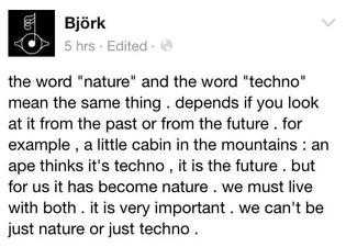 Björk on nature / techno