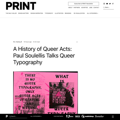 A History of Queer Acts: Paul Soulellis Talks Queer Typography