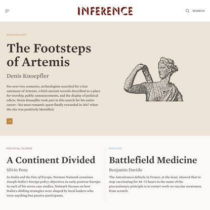 Inference: International Review of Science