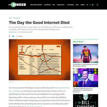 The Day the Good Internet Died - The Ringer