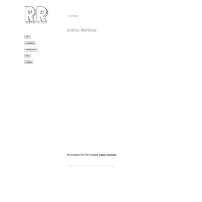 Rafaël Rozendaal - Endless Nameless