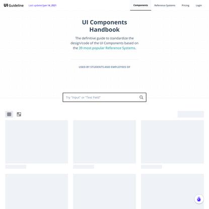 UI Guideline - Component Standardization