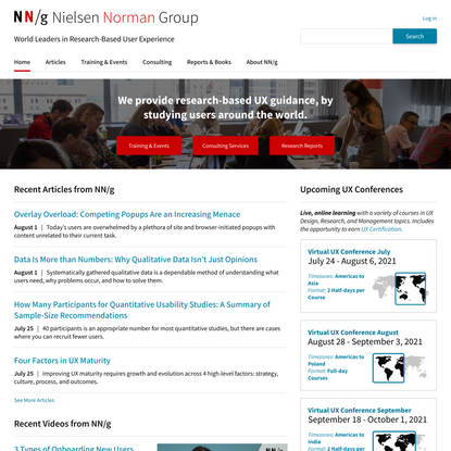 Nielsen Norman Group: UX Training, Consulting, & Research