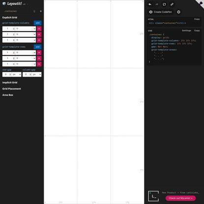 Interactive CSS Grid Generator | Layoutit Grid