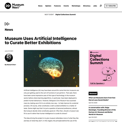 Museum Uses Artificial Intelligence to Curate Better Exhibitions
