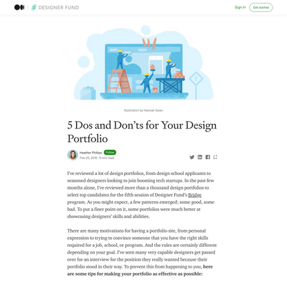 5 Dos and Don'ts for Your Design Portfolio