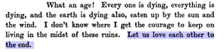 George Sand (Amantine Lucile Aurore Dupin) in her letter to Gustave Flaubert dated 27 June 1870, featured in The George Sand-Gustave Flaubert letters
