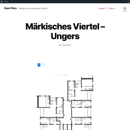 Märkisches Viertel – Ungers – Open Plans