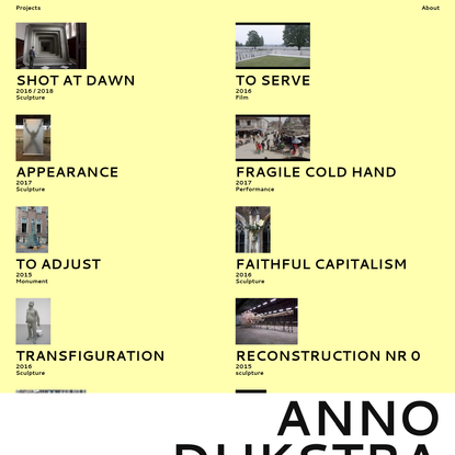 Anno Dijkstra - Projects