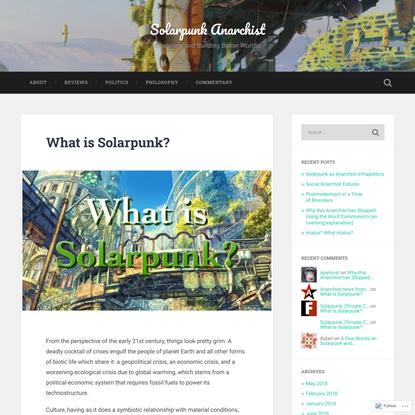 What is Solarpunk? – Solarpunk Anarchist