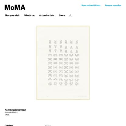 Konrad Wachsmann. Joints in Motion. 1963   MoMA