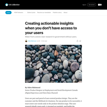 Creating actionable insights when you don't have access to your users