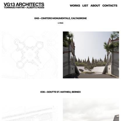 VG13 ARCHITECTS • Tommaso Fantini • Alberto Rossi