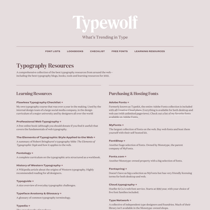 The Best Typography Resources for 2021 · Typewolf