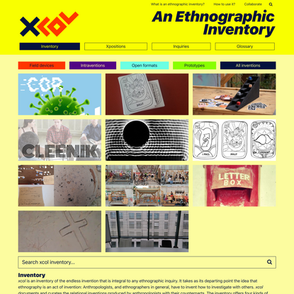 xcol, An Ethnographic Inventory