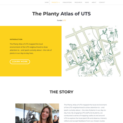 The Planty Atlas of UTS - Mapping Edges