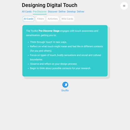 Designing Digital Touch