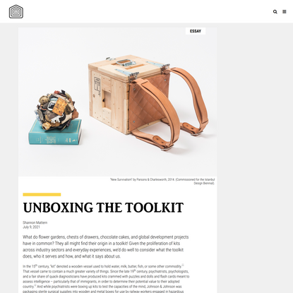 Shannon Mattern, Unboxing the Toolkit