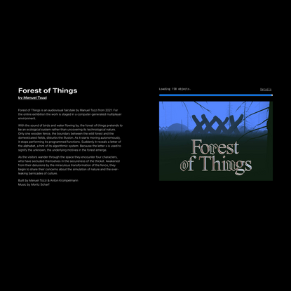 Forest of Things, by by Manuel Tozzi