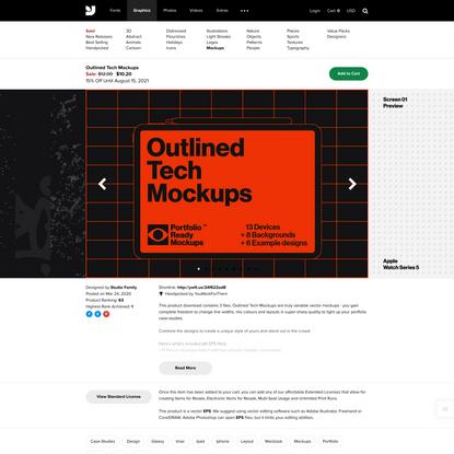 Outlined Tech Mockups - Graphics - E5557 - YouWorkForThem