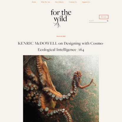 KENRIC McDOWELL on Designing with Cosmo-Ecological Intelligence — FOR THE WILD