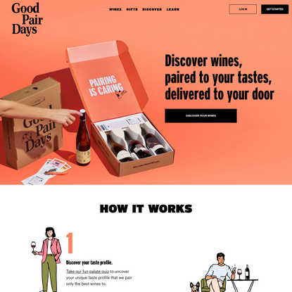 Good Pair Days   Discover Wines Paired To Your Tastes