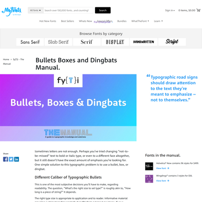 Bullets Boxes and Dingbats Manual.