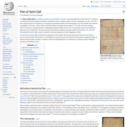 Plan of Saint Gall - Wikipedia