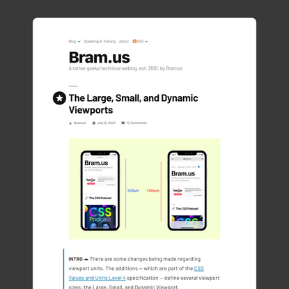 The Large, Small, and Dynamic Viewports – Bram.us