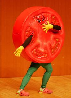 """""""Tomato-man"""" Tokyo, Japan."""