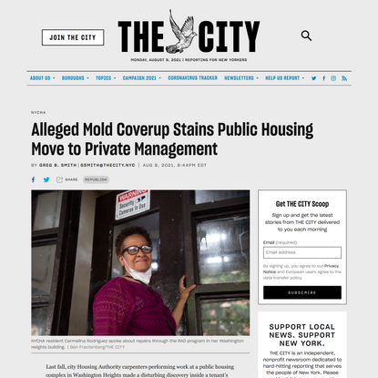 Alleged Mold Coverup Stains Public Housing Move to Private Management