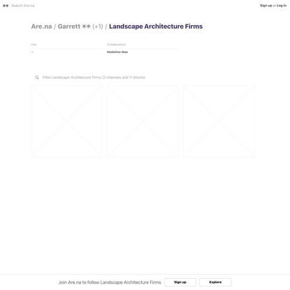 Landscape Architecture Firms — Are.na