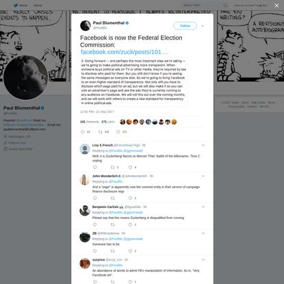 Paul Blumenthal on Twitter