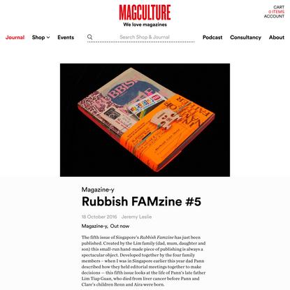 Rubbish FAMzine #5