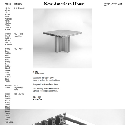 1504L - Coffee Table — New American House