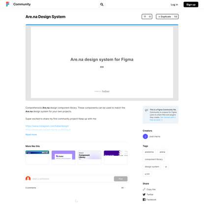 Figma - Are.na Design System   Comprehensive Are.na design component library. These components can be used to match the Are....