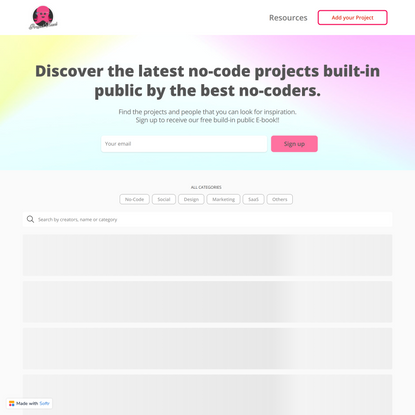 Discover the latest no-code projects built-in public