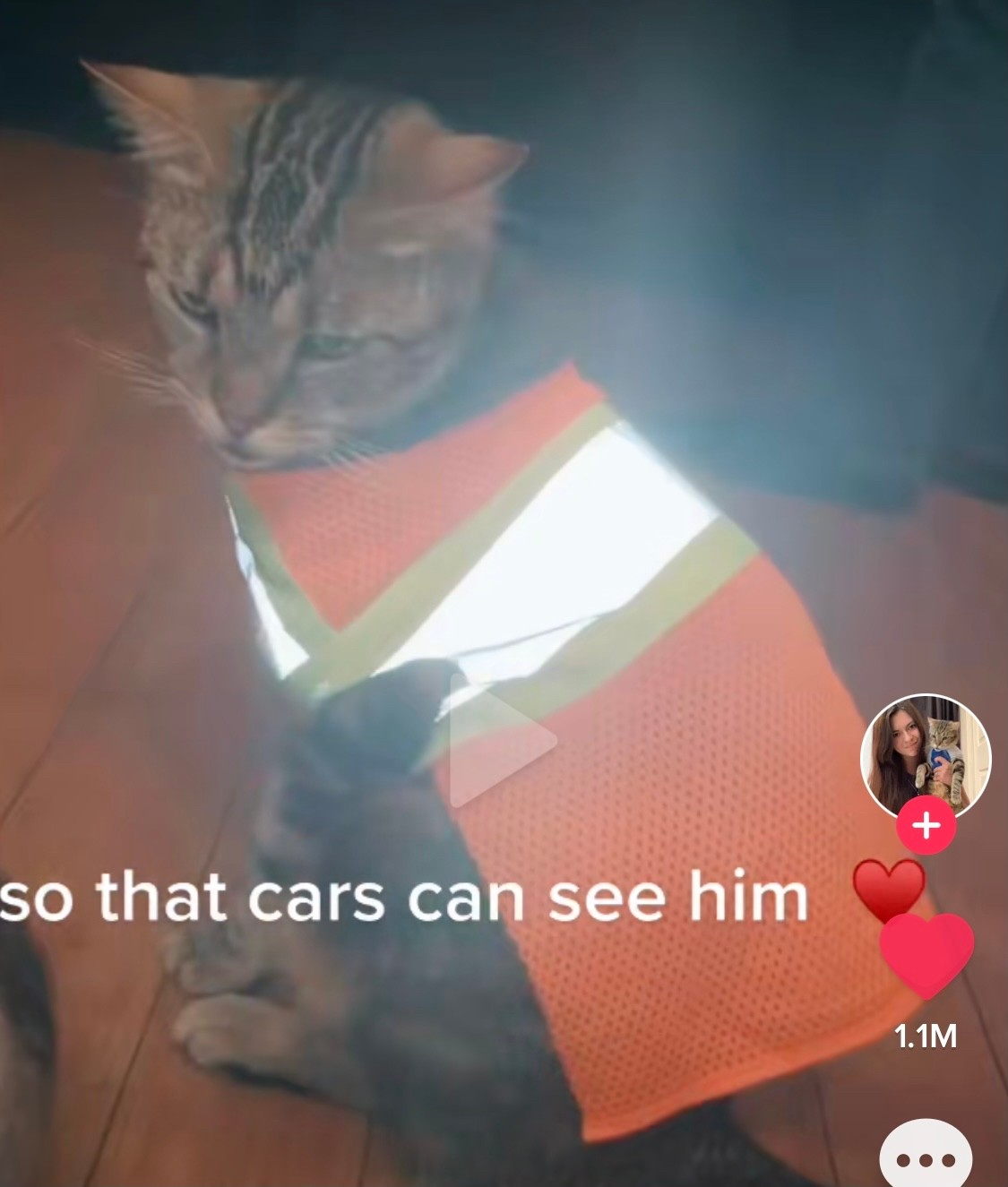 So that cars can see him