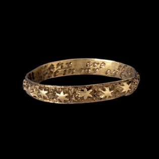 """Ring, 1700s, with the inscription, """"Many are the stars i see but in my eye no star like thee."""""""