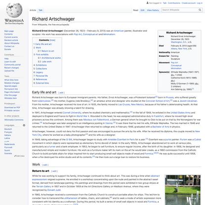 Richard Artschwager - Wikipedia