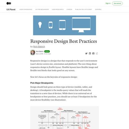 Responsive Design Best Practices