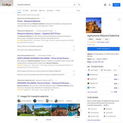 masseria salamina - Google Search